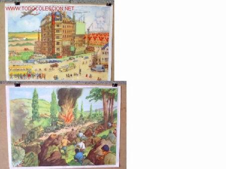 CARTELES DE HISTORIA DE ESCUELA FRANCESES - XIII .. AÑOS 50 - 60 (Coleccionismo - Carteles Gran Formato - Carteles Varios)