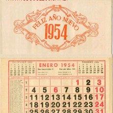 Carteles: CALENDARIO DE LOS DE 12 HOJAS DE 1954. Lote 26590597