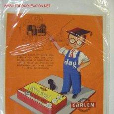 Carteles: PUBLICIDAD GASOL-GRAFIO LUBRIFICANTE SOLIDO PARA PARTES ALTAS DE CILINDROS - AÑOS 1950-60. Lote 16123025