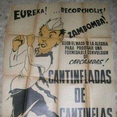Carteles: CARTEL DE CINE ARGENTINO DE CANTINFLAS PELICULA. Lote 23367293