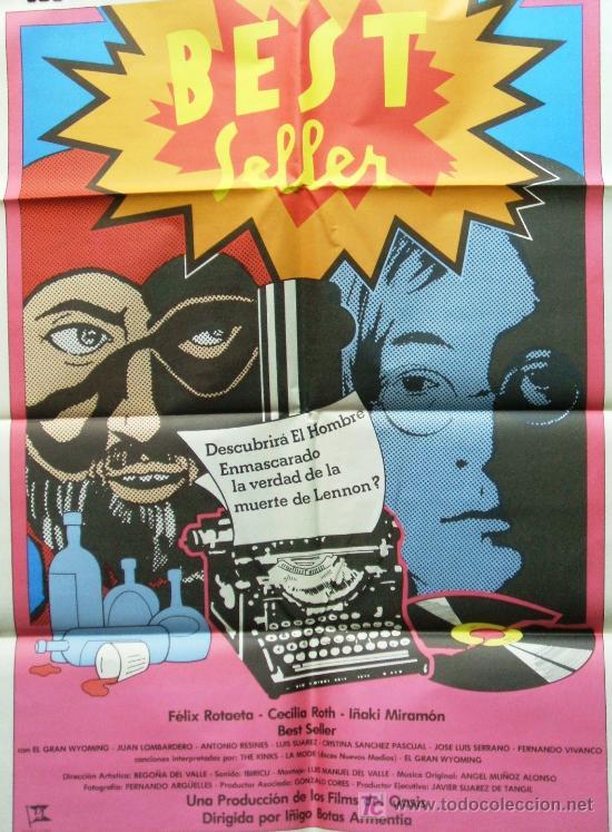 CARTEL DE CINE DE BEST SELLER. DIRECTOR ÍÑIGO BOTAS ARMENTIA. 1980 (Coleccionismo - Carteles Gran Formato - Carteles Varios)