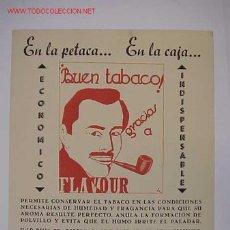 Carteles: PUBLICIDAD BUEN TABACO GRACIAS A FLAVOUR - AÑOS 1950-60. Lote 16422364