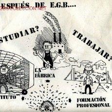 Plakate - CARTEL ORIGINAL DEL AÑO 1977,INFORMATIVO EGB. FORMATO A3 - 2480969