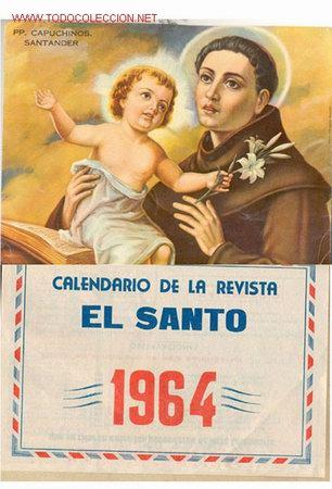 CALENDARIO COMPLETO DEL AÑO 1964 (Coleccionismo - Carteles Gran Formato - Carteles Varios)