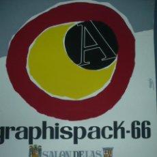 Carteles: CARTEL DE GRAPHISPACK-66 LITOGRAFICO SALON DE LAS ARTES GRAFICAS BARCELONA AÑO 1966. Lote 10952943