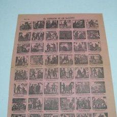 Carteles: ALELUYA - AUCA . EL CORAZÓN DE UN BANDIDO . Nº 93 . DESPACHO SUC. DE HERNANDO . 31 X 43 CMS. Lote 22089699