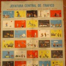 Carteles: JEFATURA CENTRAL DE TRAFICO. 1961. AUCA DEL BUEN CONDUCTOR.. Lote 26856766