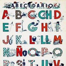 Carteles: ABECEDARIO. S.I.D.E. CARTEL EN CARTÓN (54X38 CM.) AÑOS 50. Lote 16601427