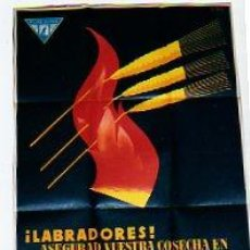 Carteles: CARTEL DE SEGUROS PLUS ULTRA. CAMPAÑIA ANONIMA DE SEGUROS. LABRADORES. GRAFOS S. A. BARCELONA.. Lote 21518335