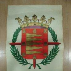 Carteles: CARTEL LITOGRAFICO HERALDICO DEL ESCUDO DE VALLADOLID. C.N.-S. SINDICATO DE PAPEL Y ARTES GRAFICAS. Lote 17601644