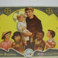 Affiches: CARTEL DE SAN ANTONIO PROTEGE A LA INFANCIA. RELIEVES BASA Y PAGÉS.. Lote 22723287