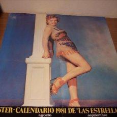 Carteles: POSTER CALENDARIO 1981 DE LAS ESTRELLAS (MARILYN MONROE) 44,5X59 - EDICIONES URBION. Lote 19828890