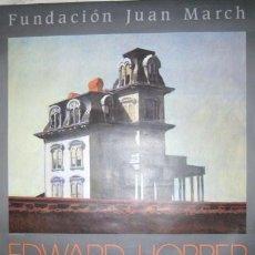 Carteles: CARTEL. EDWARD HOPPER. LA CASA DE PSICOSIS. FUNDACION JUAN MARCH 1989.. ENVIO CERTIFICADO GRATIS¡¡¡. Lote 26303131