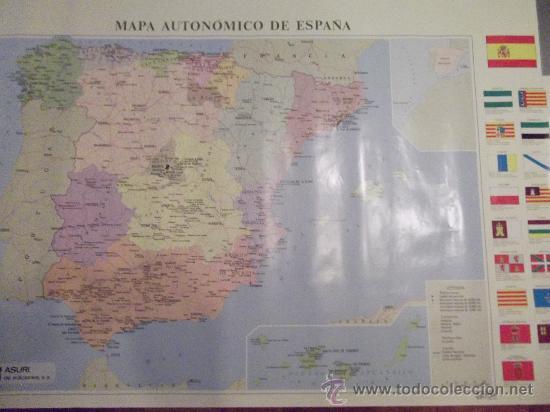 MAPA AUTONOMICO DE ESPAÑA-100X68CM- (Coleccionismo - Carteles Gran Formato - Carteles Varios)