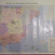 Carteles: MAPA AUTONOMICO DE ESPAÑA-100X68CM-. Lote 24184876