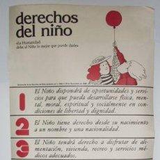 Carteles: CARTEL DERECHOS DEL NIÑO - 1979 AÑO INTERNACIONAL DEL NIÑO - LA BAÑEZA. Lote 26706869
