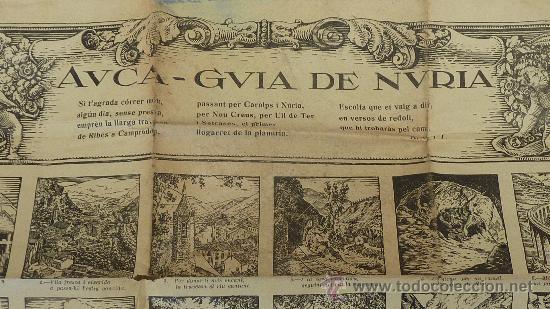 Carteles: Bonita auca guia de Nuria. En catalan, de años 30s. Republica. Tamaño grande. - Foto 2 - 26851261