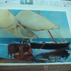 Plakate - POSTERS DE JOAQUIN SOROLLA,BARCA DE PESCADORES.-MUSEO SOROLLA (MADRID).- TAMAÑO: 49X37CTMS.- - 29976168