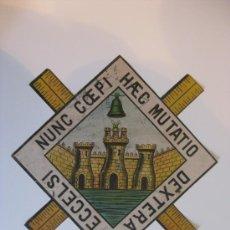Carteles: PRECIOSO ESCUDO LITOGRAFICO TROQUELADO DE LINARES, AÑOS 1890-1900. Lote 30089002