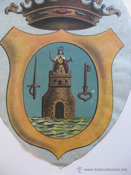 Carteles: PRECIOSO Escudo Litografico Troquelado de LORCA, MURCIA, años 1890-1900 - Foto 2 - 30089556