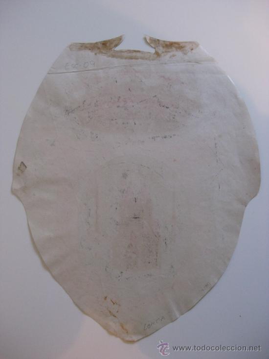 Carteles: PRECIOSO Escudo Litografico Troquelado de LORCA, MURCIA, años 1890-1900 - Foto 4 - 30089556