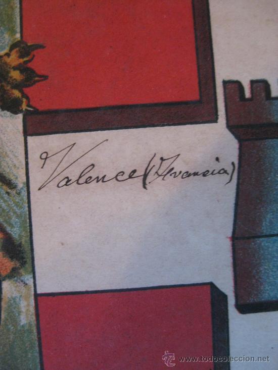 Carteles: PRECIOSO Escudo Litografico Troquelado de VALENCE, FRANCIA, años 1890-1900 - Foto 4 - 30088566