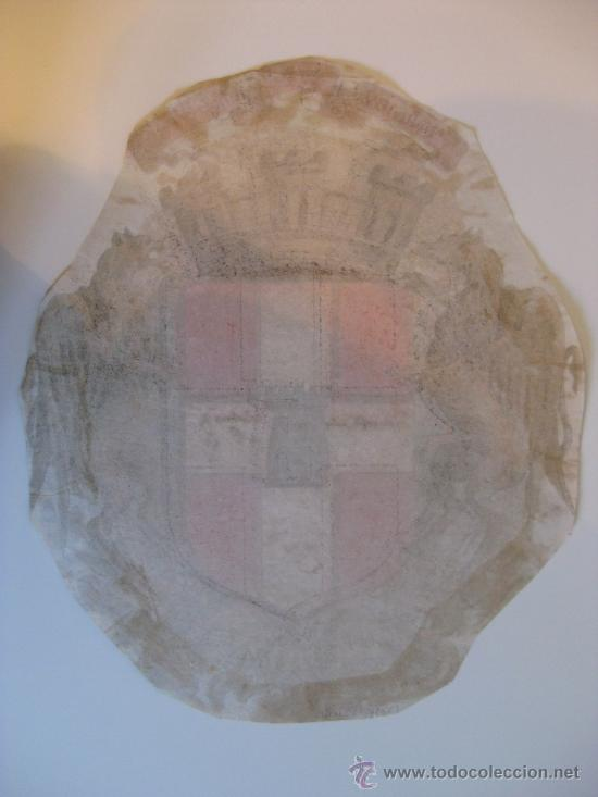 Carteles: PRECIOSO Escudo Litografico Troquelado de VALENCE, FRANCIA, años 1890-1900 - Foto 5 - 30088566