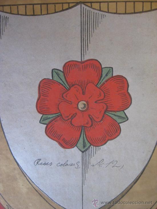 Carteles: PRECIOSO Escudo Litografico Troquelado de ROSES, GERONA, años 1890-1900 - Foto 2 - 140374724