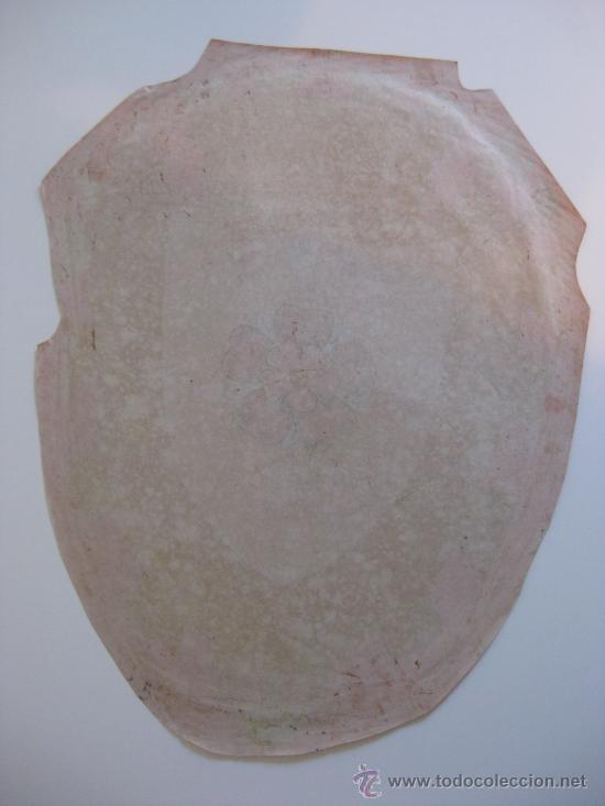 Carteles: PRECIOSO Escudo Litografico Troquelado de ROSES, GERONA, años 1890-1900 - Foto 4 - 140374724