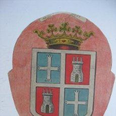 Carteles: PRECIOSO ESCUDO LITOGRAFICO TROQUELADO DE PALENCIA, AÑOS 1890-1900. Lote 30099489