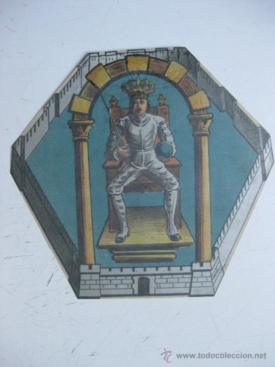 PRECIOSO ESCUDO LITOGRAFICO TROQUELADO DE CIUDAD REAL, AÑOS 1890-1900 (Coleccionismo - Carteles Gran Formato - Carteles Varios)