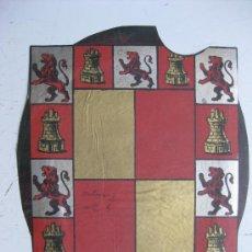 Carteles: PRECIOSO ESCUDO LITOGRAFICO TROQUELADO DE JAEN, AÑOS 1890-1900. Lote 30106977