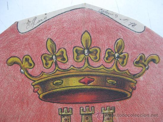 Carteles: PRECIOSO Escudo Litografico Troquelado de HARO, LOGROÑO, años 1890-1900 - Foto 2 - 30098514