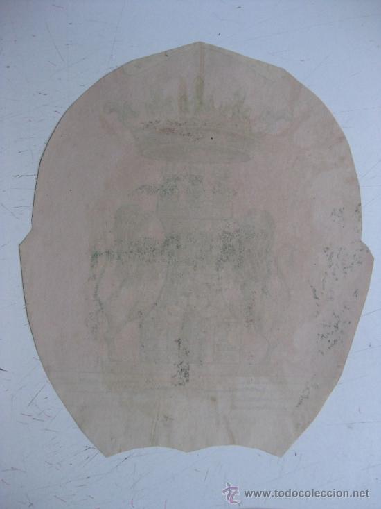 Carteles: PRECIOSO Escudo Litografico Troquelado de HARO, LOGROÑO, años 1890-1900 - Foto 3 - 30098514