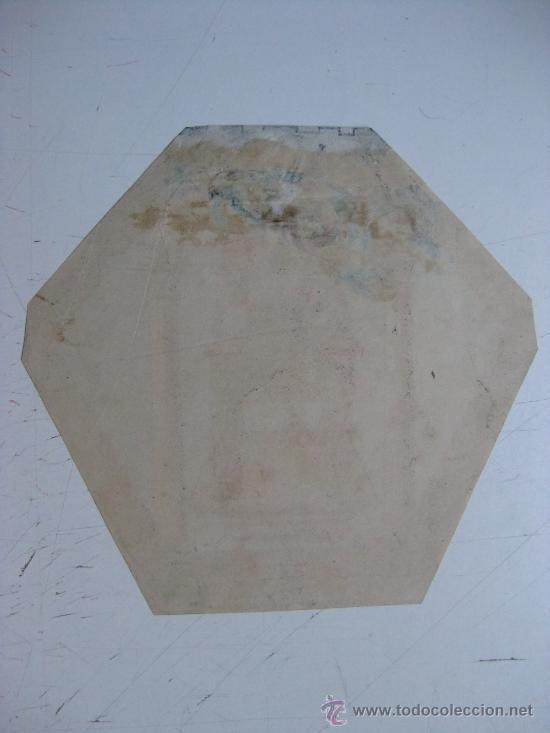 Carteles: PRECIOSO Escudo Litografico Troquelado de CIUDAD REAL, años 1890-1900 - Foto 2 - 30099904