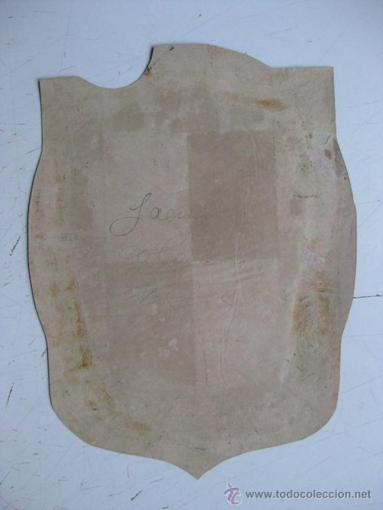 Carteles: PRECIOSO Escudo Litografico Troquelado de JAEN, años 1890-1900 - Foto 2 - 30106977