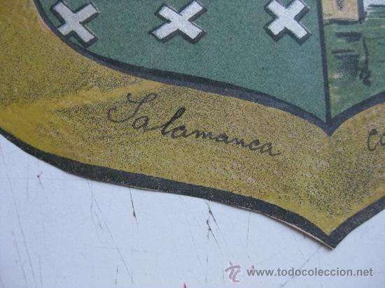 Carteles: PRECIOSO Escudo Litografico Troquelado de SALAMANCA, años 1890-1900 - Foto 2 - 30107424