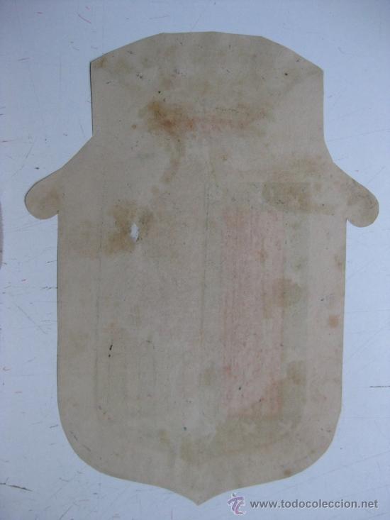 Carteles: PRECIOSO Escudo Litografico Troquelado de SALAMANCA, años 1890-1900 - Foto 3 - 30107424