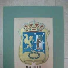 Carteles: PRECIOSO ESCUDO DE MADRID, AÑOS 1890-1900 - LITOGRAFIA. Lote 16642925