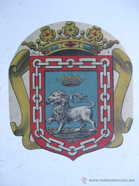 PRECIOSO ESCUDO LITOGRAFICO TROQUELADO DESCONOCIDO, AÑOS 1890-1900 (Coleccionismo - Carteles Gran Formato - Carteles Varios)