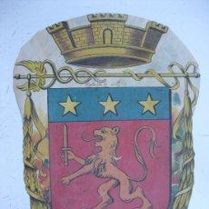 Carteles: PRECIOSO ESCUDO LITOGRAFICO TROQUELADO DESCONOCIDO, AÑOS 1890-1900. Lote 30140737