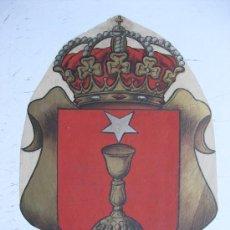 Carteles: PRECIOSO ESCUDO LITOGRAFICO TROQUELADO DE CUENCA, AÑOS 1890-1900. Lote 30140757