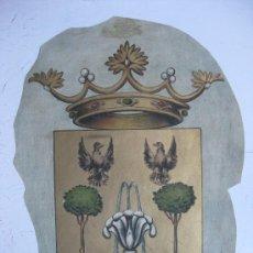 Carteles: PRECIOSO ESCUDO LITOGRAFICO TROQUELADO DE LA RAMBLA, AÑOS 1890-1900. Lote 30140779