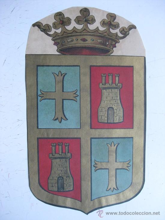 PRECIOSO ESCUDO LITOGRAFICO TROQUELADO DE PALENCIA, AÑOS 1890-1900 (Coleccionismo - Carteles Gran Formato - Carteles Varios)