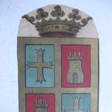 Carteles: PRECIOSO ESCUDO LITOGRAFICO TROQUELADO DE PALENCIA, AÑOS 1890-1900. Lote 30140989