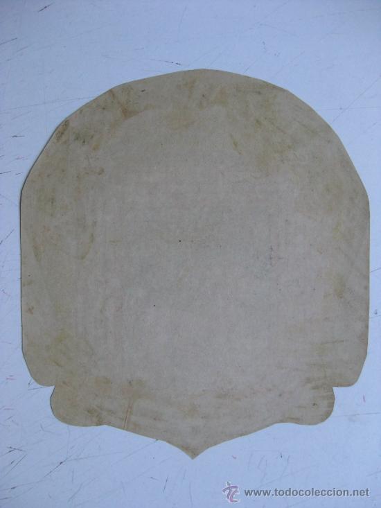 Carteles: PRECIOSO Escudo Litografico Troquelado DESCONOCIDO, años 1890-1900 - Foto 2 - 30140726