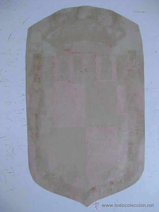 Carteles: PRECIOSO Escudo Litografico Troquelado de JAEN, años 1890-1900 - Foto 2 - 30140790