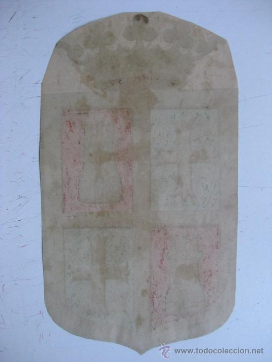 Carteles: PRECIOSO Escudo Litografico Troquelado de PALENCIA, años 1890-1900 - Foto 2 - 30140989
