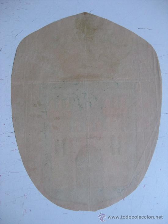 Carteles: PRECIOSO Escudo Litografico Troquelado de BAEZA, JAEN, años 1890-1900 - Foto 2 - 30141308