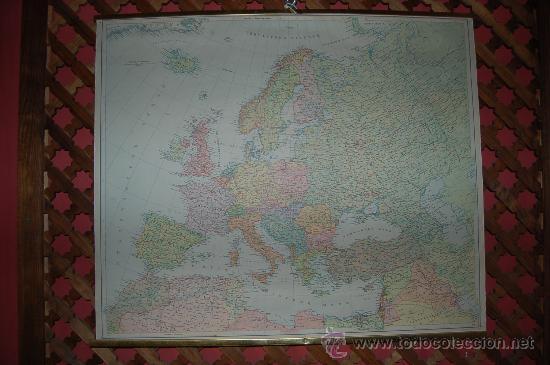 Carteles: MAPA DE EUROPA, PEQUEÑO CARTEL ESCOLAR (1959) - Foto 2 - 30193439
